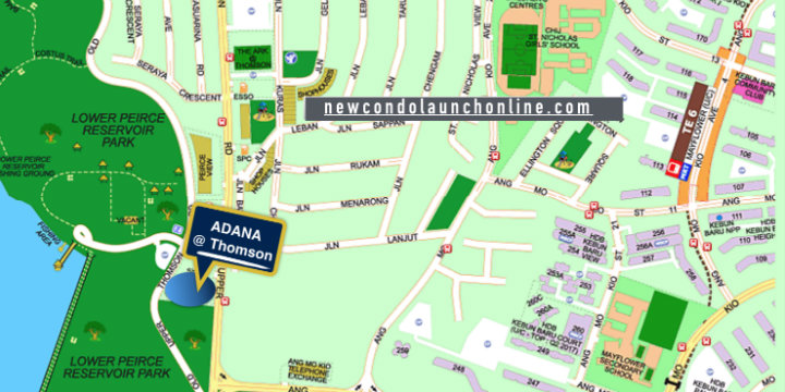 New Condo Launch - Adana @ Thomson - Street Location Map