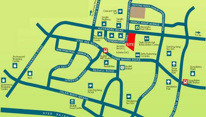 New Condo Launch - Alex Residences - Location Map