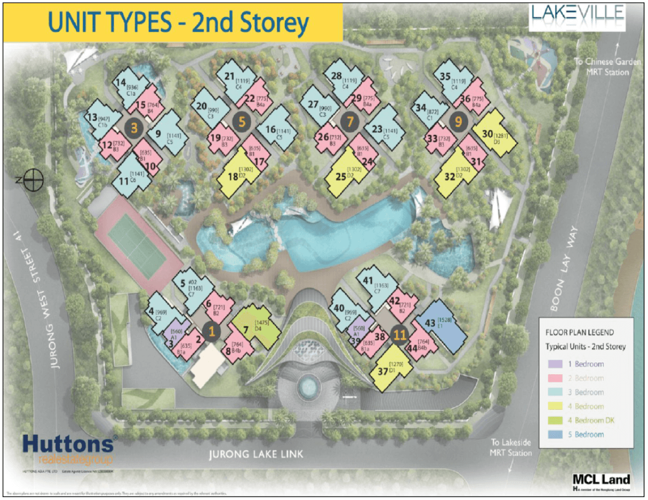 New Condo Launch - LakeVille - Site Plan 2nd Storey