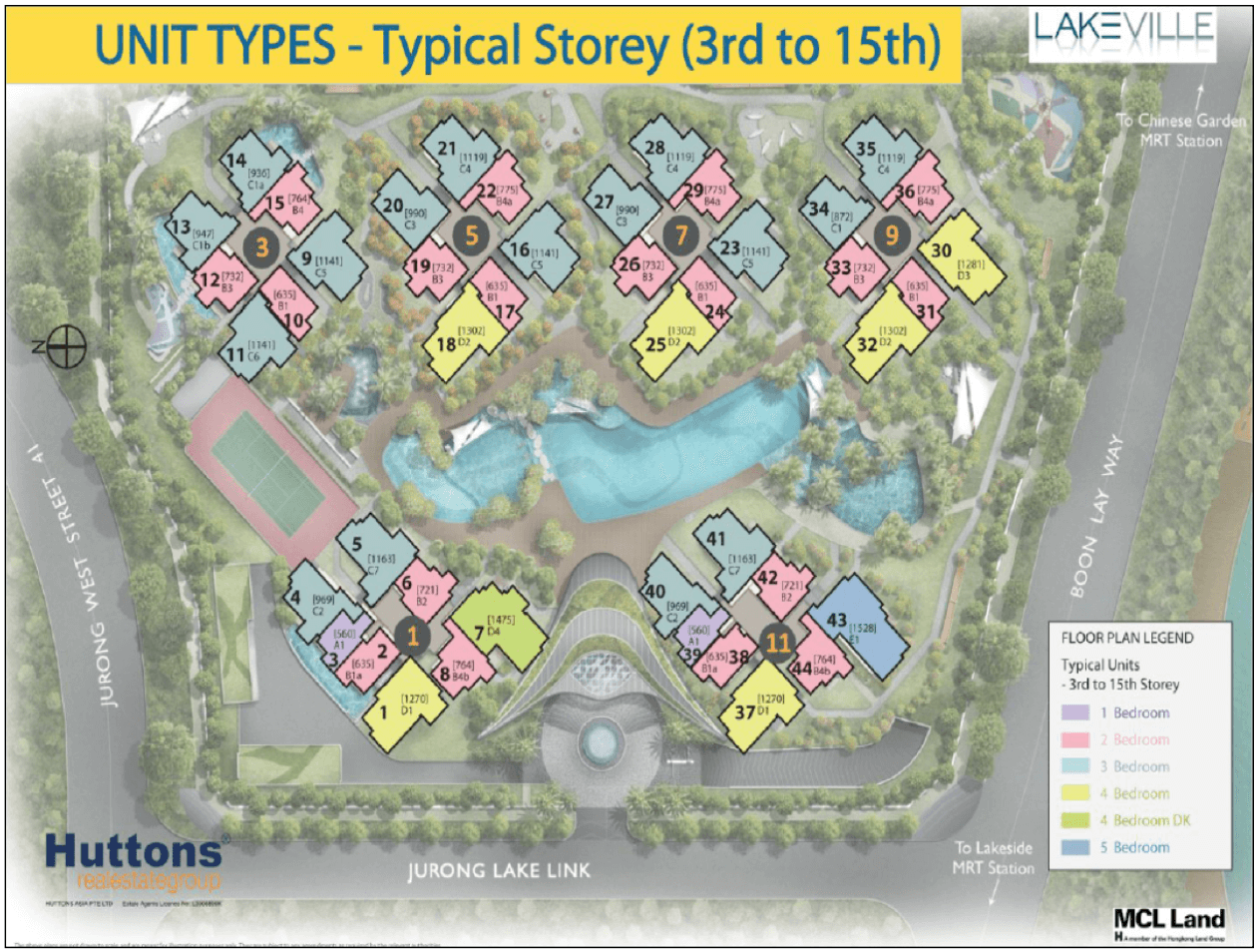 New Condo Launch - LakeVille - Site Plan 3rd to 15th Storey
