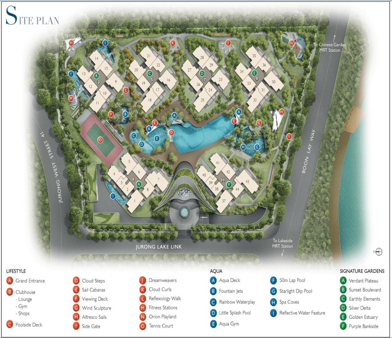 New Condo Launch - LakeVille - Site Map
