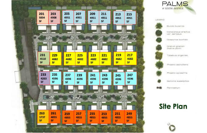 Palms @ Sixth Avenue Site Plan
