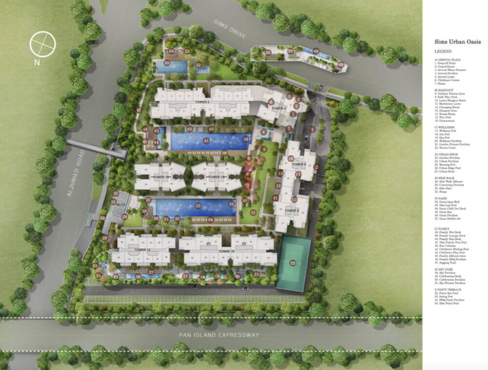 Condo Singapore - Sims Urban Oasis - Site Plan