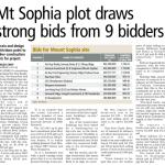 Mount Sophia Plot Draws 9 Strong Bids