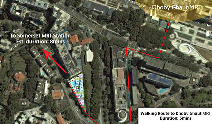 The Rise @ Oxley Residences - Walking Route To Dhoby Ghaut MRT