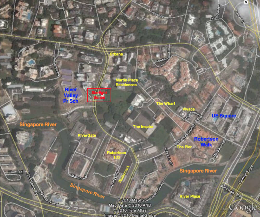 Starlight Suites - Google Map