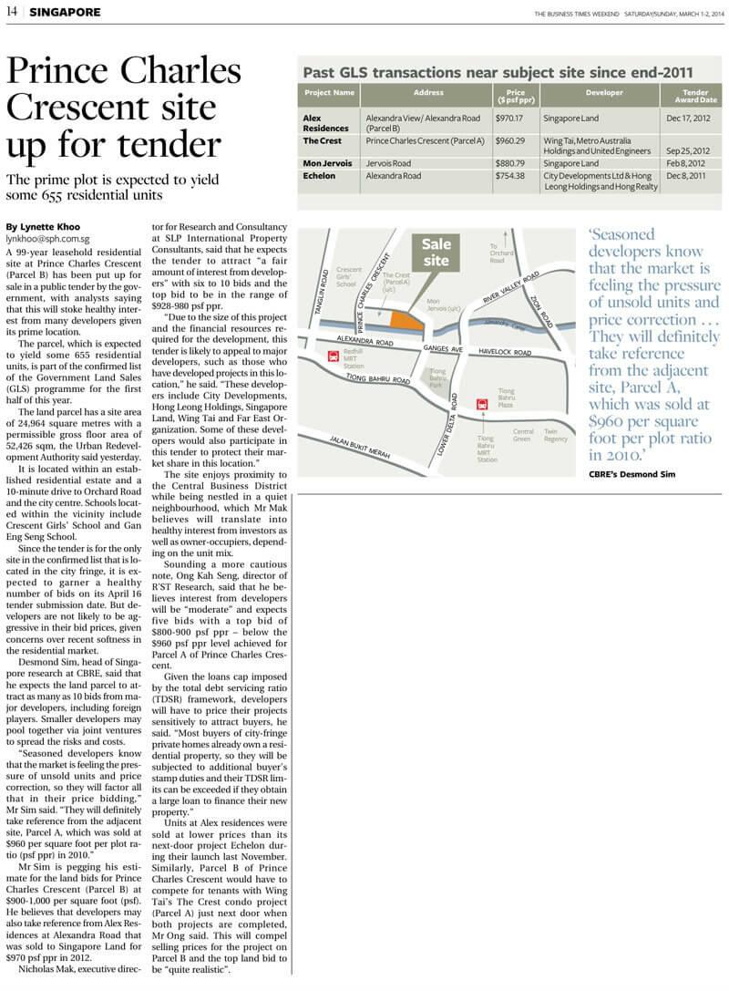 Prince Charles Crescent - Land Parcel B Up For Tender