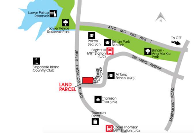 Singapore Condos - Thomson Impressions - Location Map