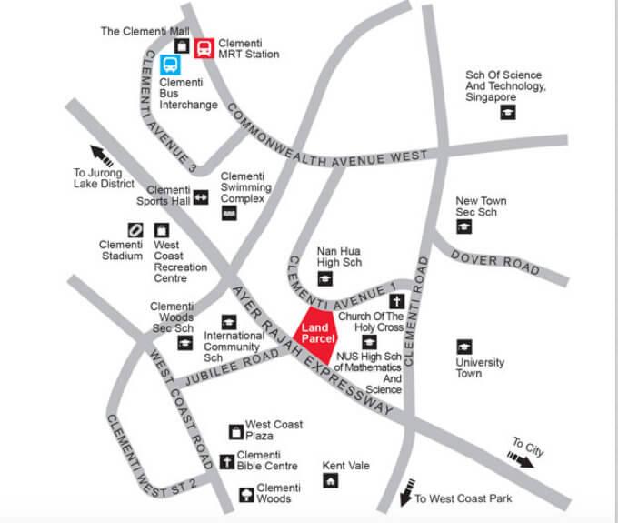 Clementi Avenue 1 - Location Map