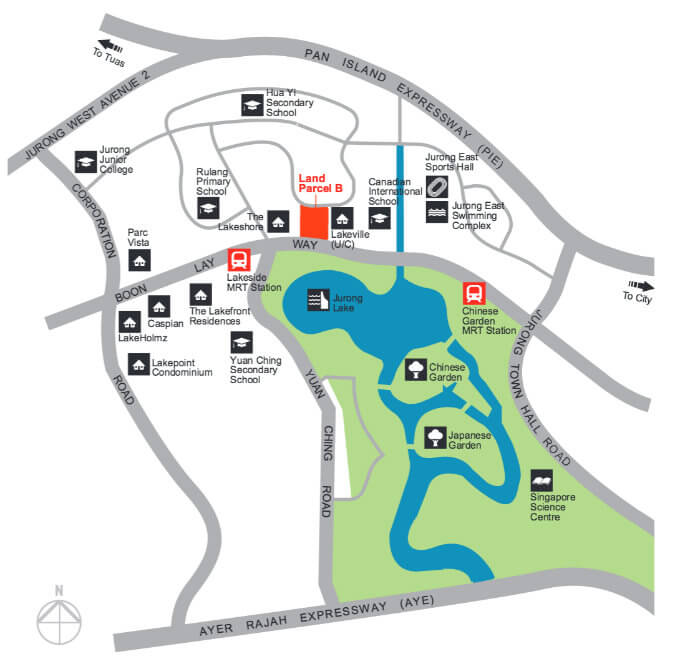 Lake Grand New Launch - Location Map