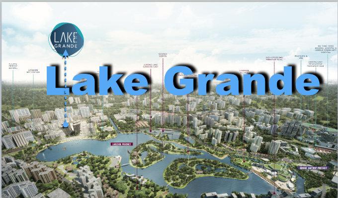 Lake Grande - Aerial View of Jurong Lake District