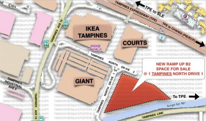T Space Industrial - New Condo Launch - Location Map