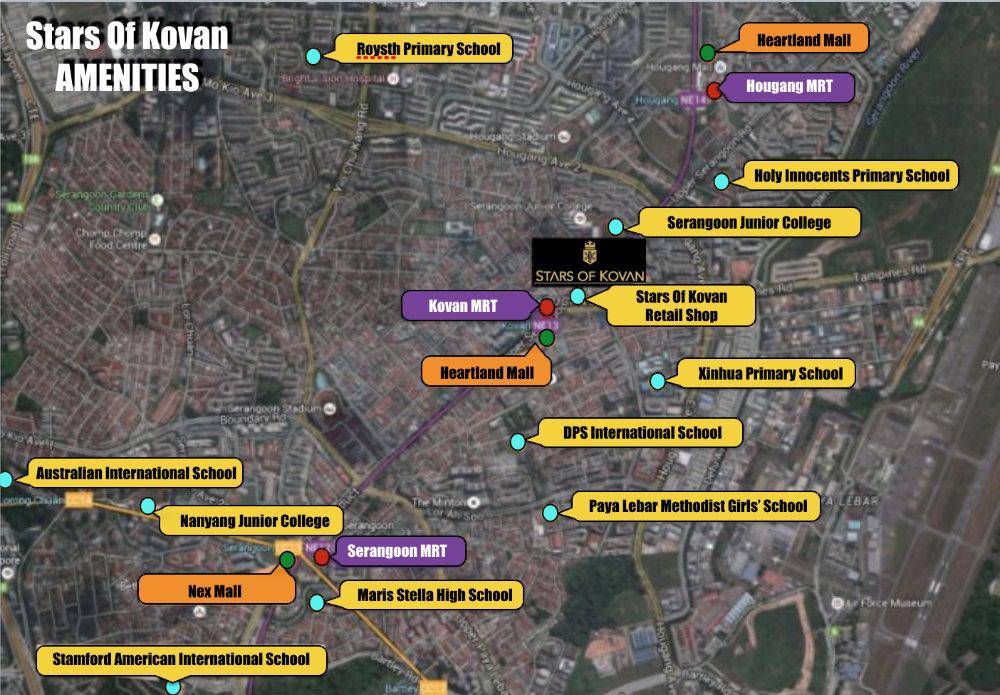 Stars Of Kovan Amenities Map