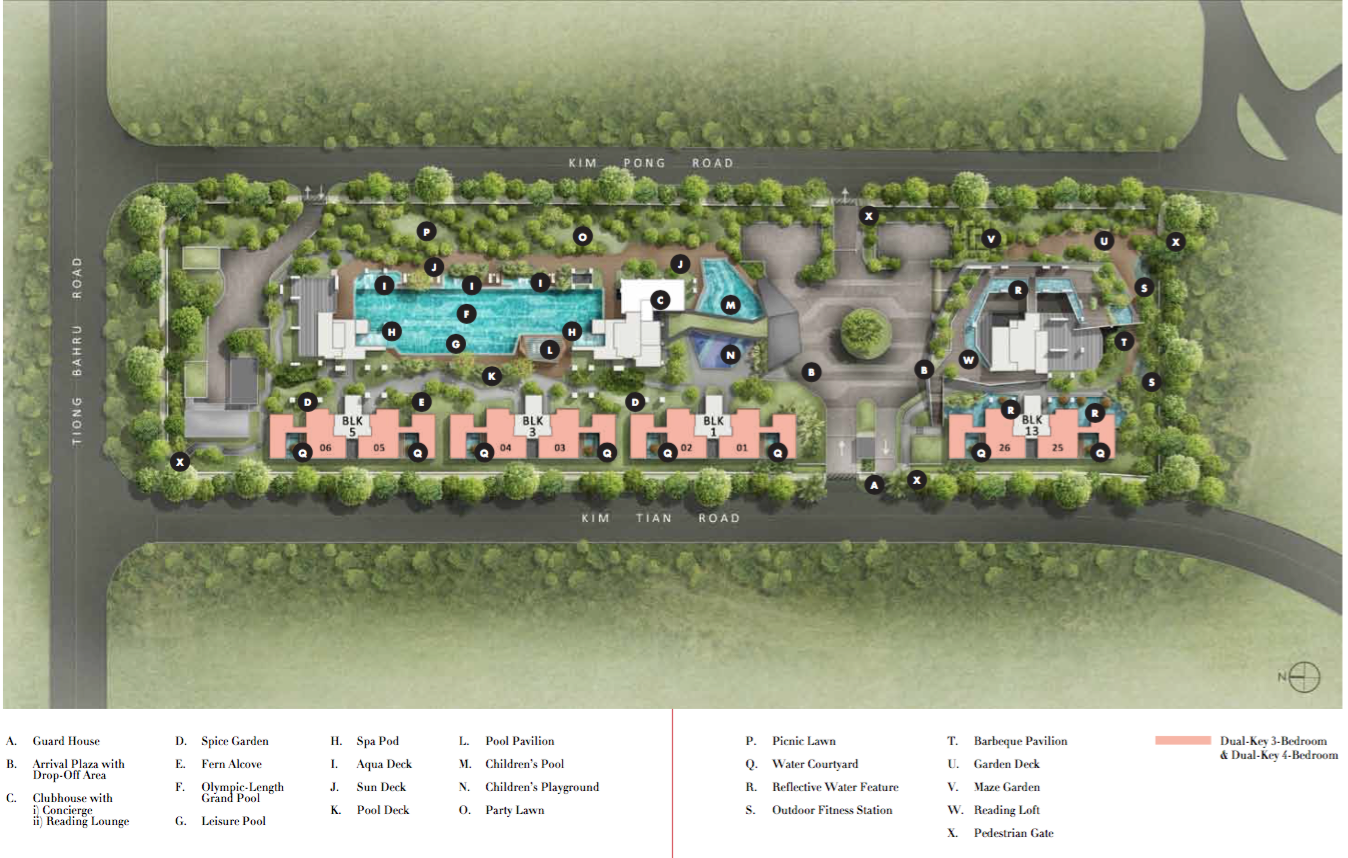 Highline Residences - Condo For Sale Singapore - Site Plan At Level 1