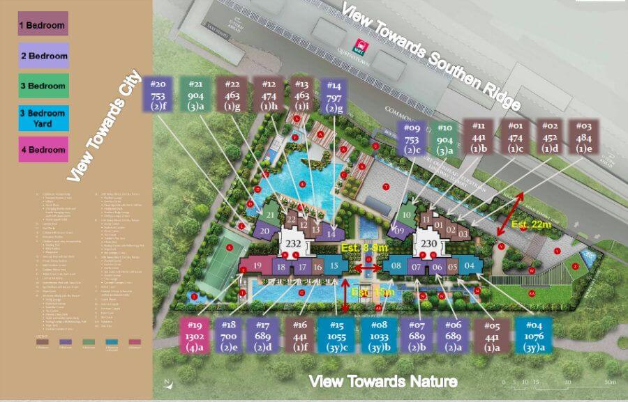 Commonwealth Towers Site Plan With Sizes - New Launches