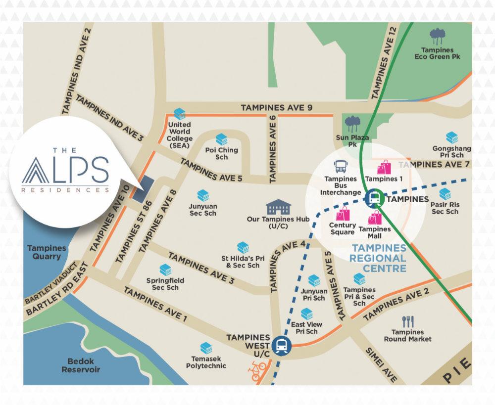 The Alps Residences Location Map - Singapore Condos