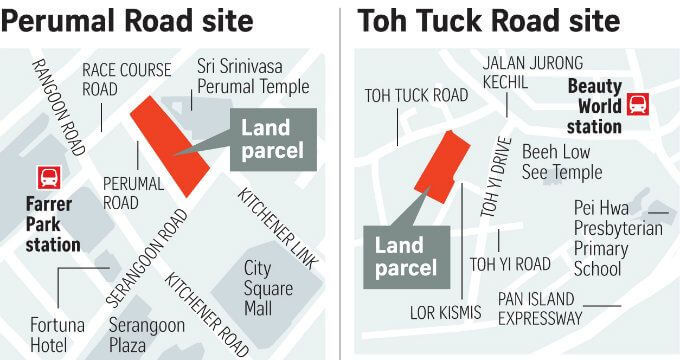 Perumal Road and Toh Tuck Road Land Sale