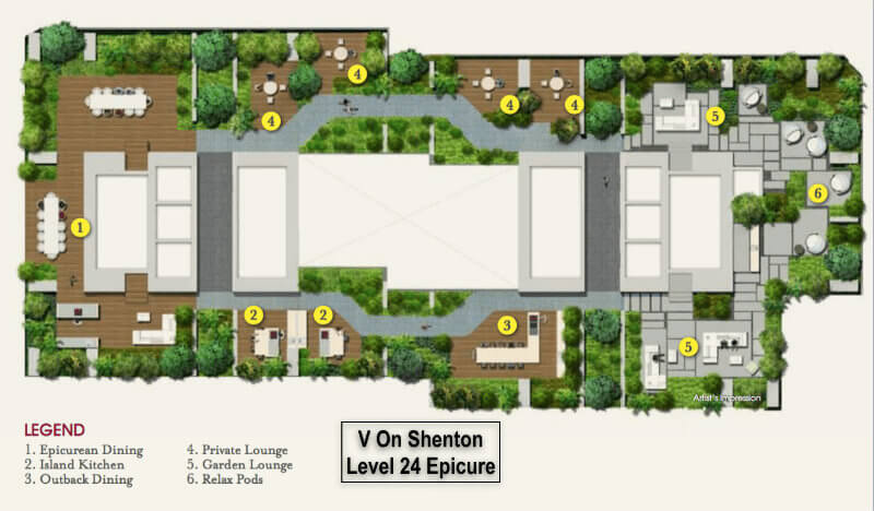 V On Shenton 24th Level Facility Plan