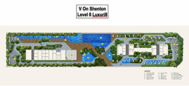 V On Shenton 8th Level Facility Plan