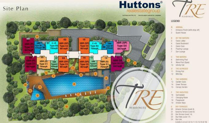 Tre Residences Site Map