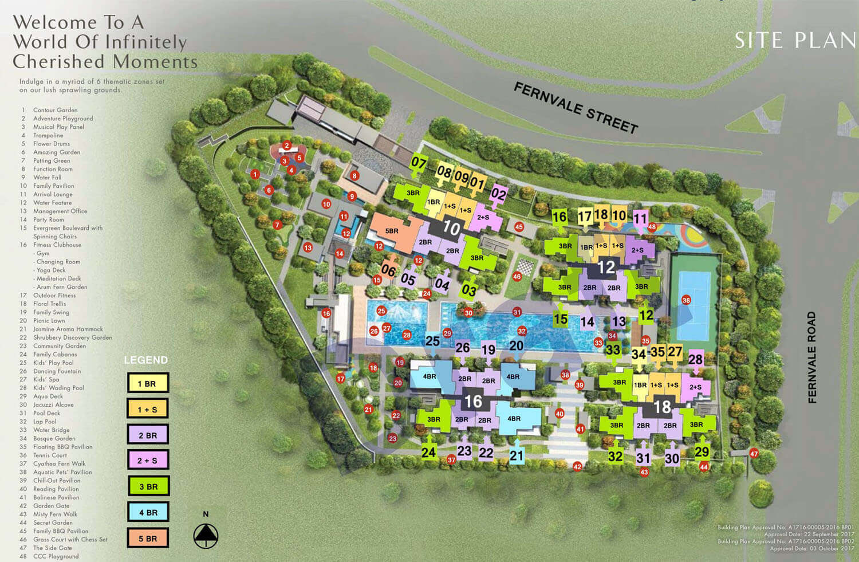 Parc Botannia Condo Singapore Site Plan