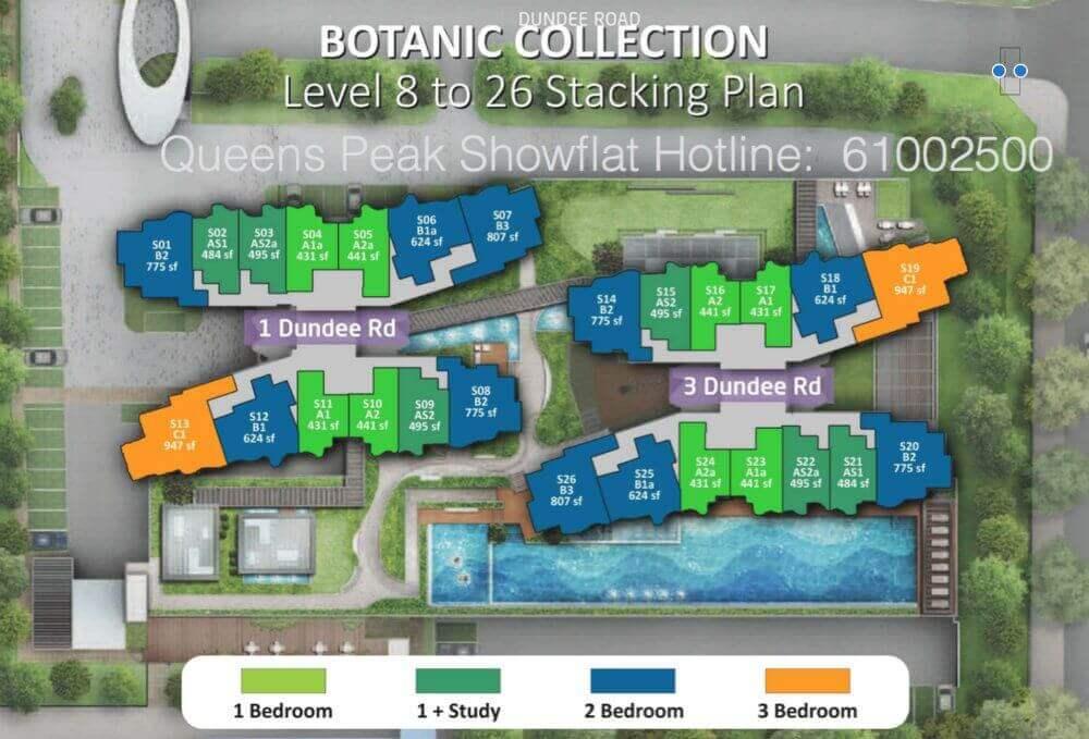 Queens Peak New Condo Site Plan Level 8 to 26