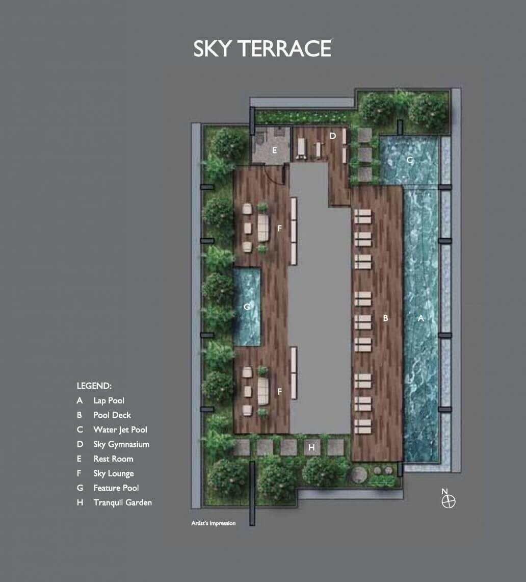 The Peak @ Cairnhill I New Condo Launch Site Plan Sky Terrace