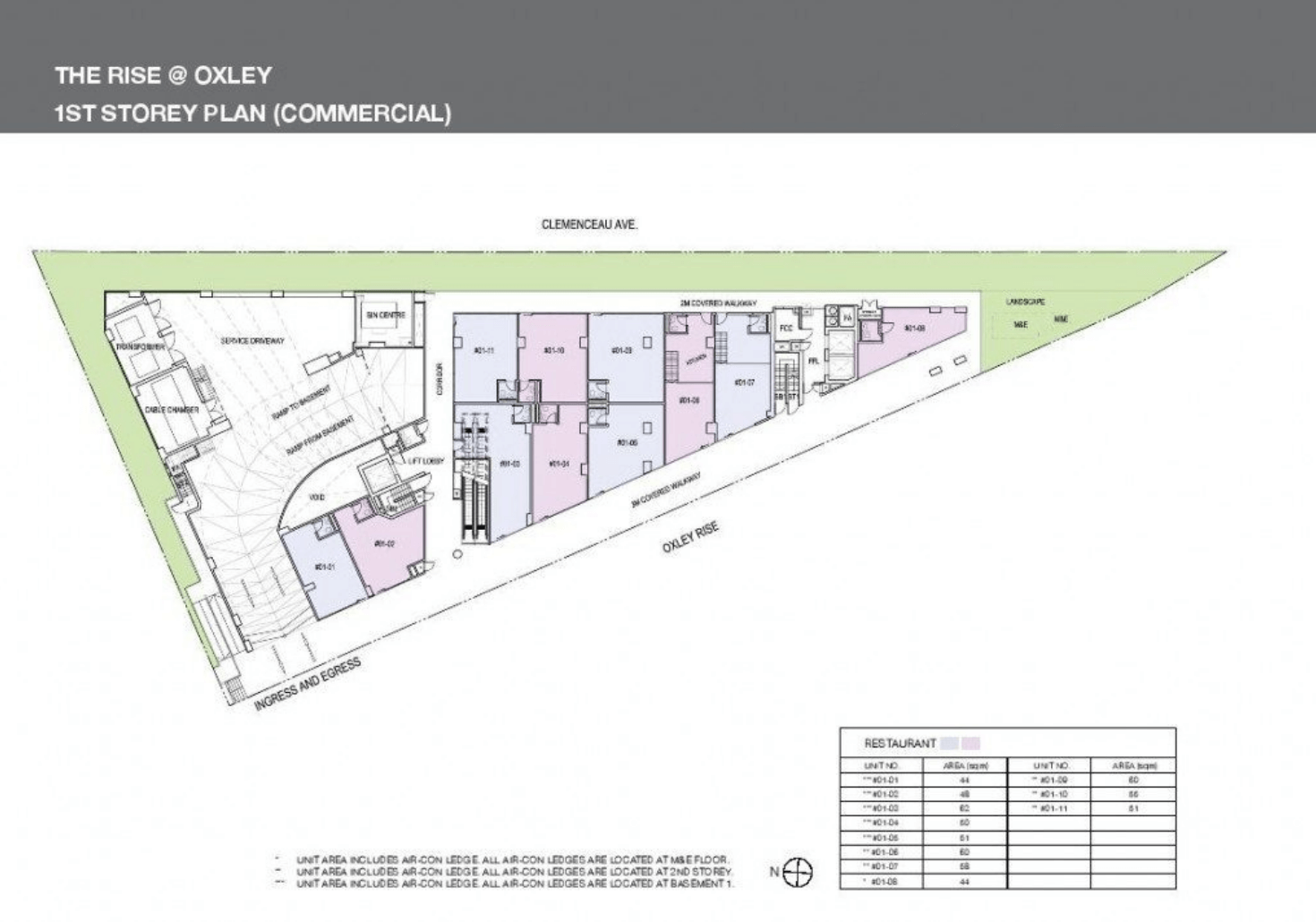 The Rise @ Oxley Residences New Condo Site Plan Level 1
