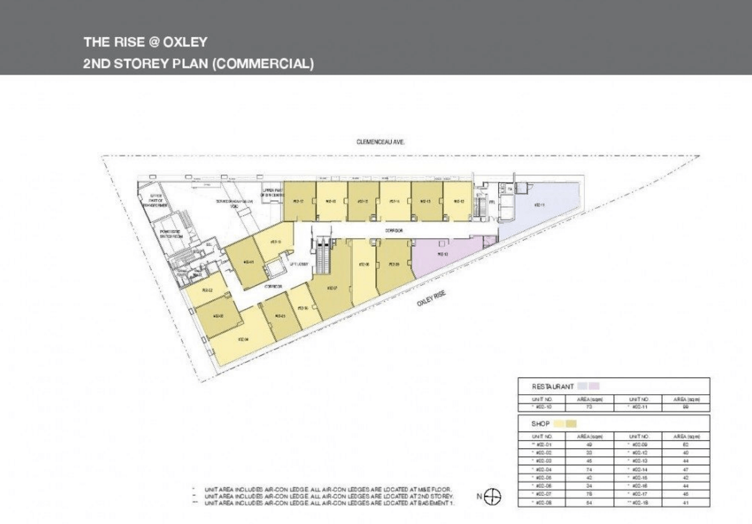 The Rise @ Oxley Residences New Condo Site Plan Level 2