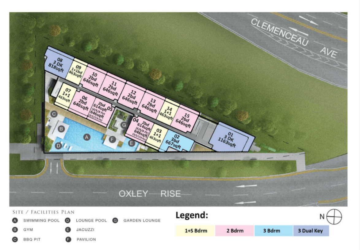 The Rise @ Oxley Residences New Launch Condo Location