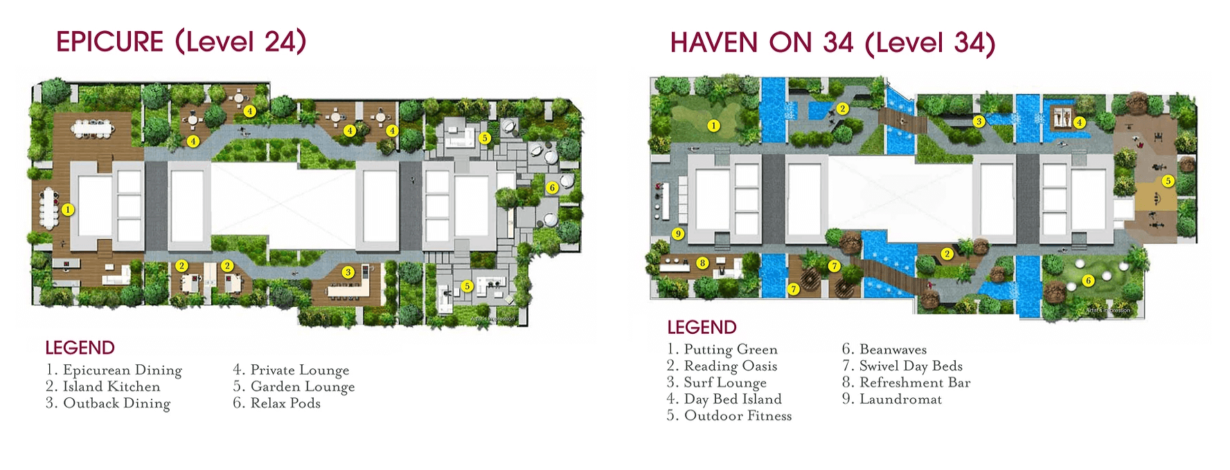 V On Shenton New Launch Condo Site Plan Level 24 and 34
