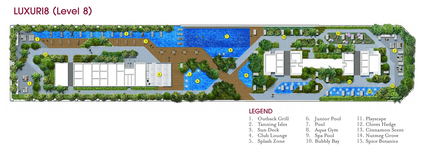 V On Shenton New Launch Condo Site Plan Level 8