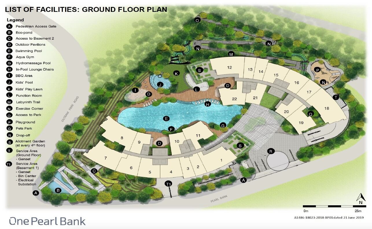 One Pearl Bank Condo Singapore Site Plan Ground