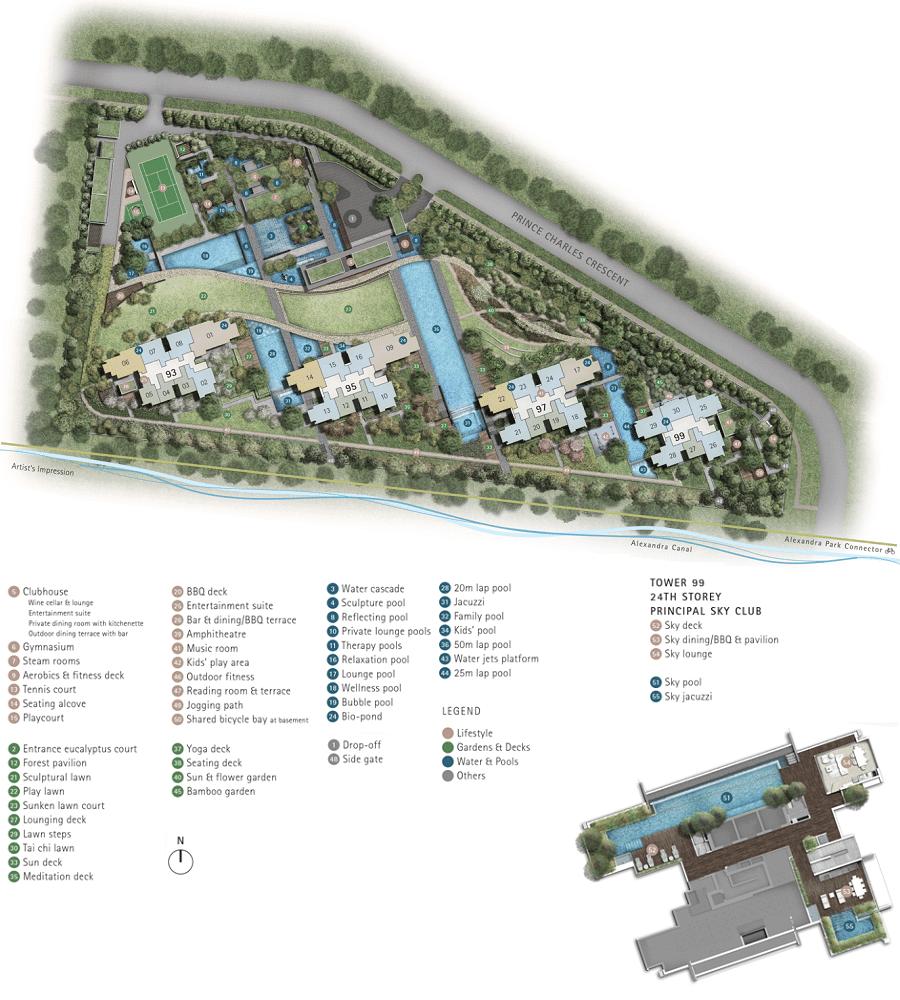 Principal Garden Condo Singapore Site Plan