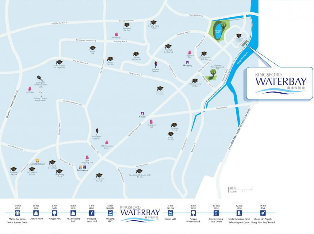 Kingsford Waterbay New Launch Location Map