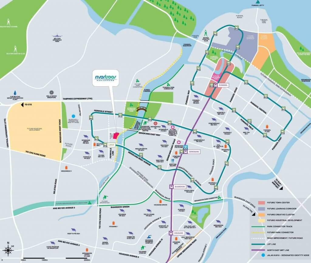 Rivertrees Residences New Condo Launch Location Map