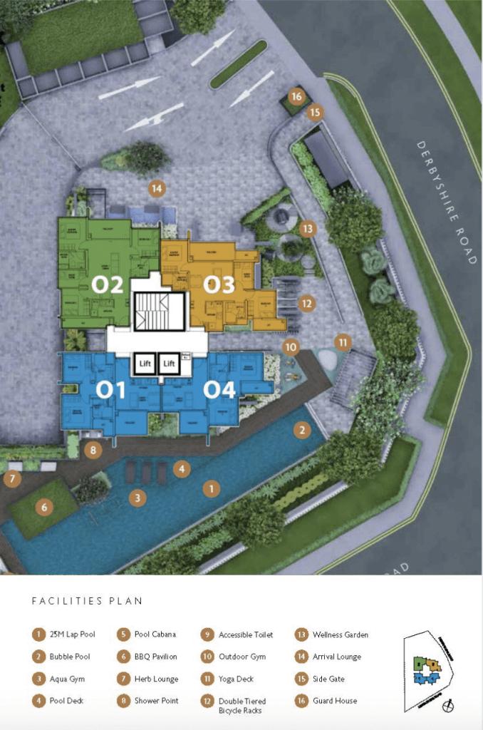 Fyve Derbyshire Condo Singapore Site Plan