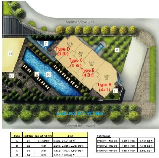 Marina Bay Suites Condo Singapore Site Plan