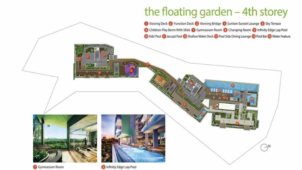 Pollen & Bleu Condo Singapore Site Plan 4th Storey