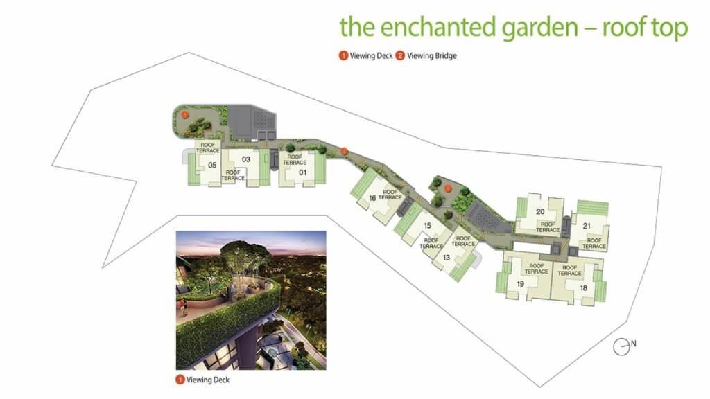 Pollen & Bleu Condo Singapore Site Plan Roof Top