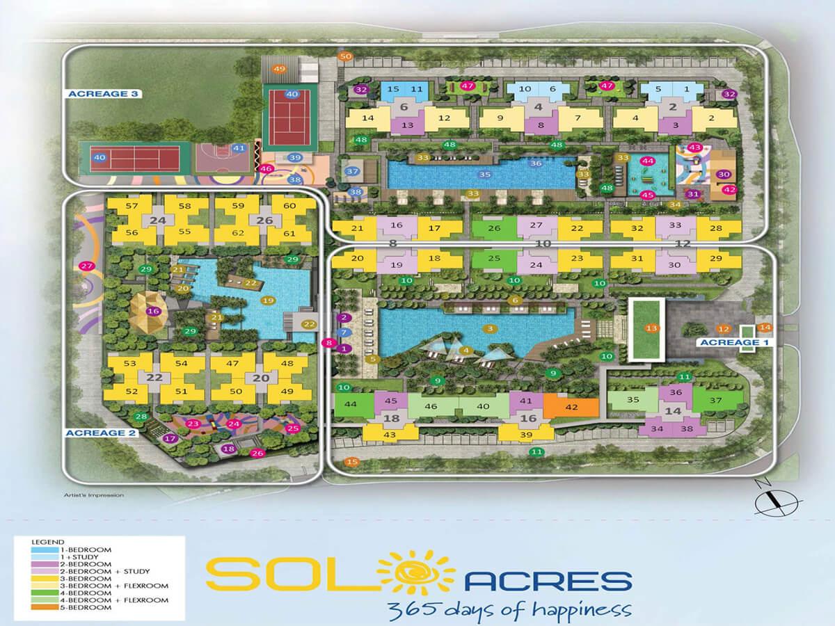 Sol Acres EC Condo Singapore Site Plan