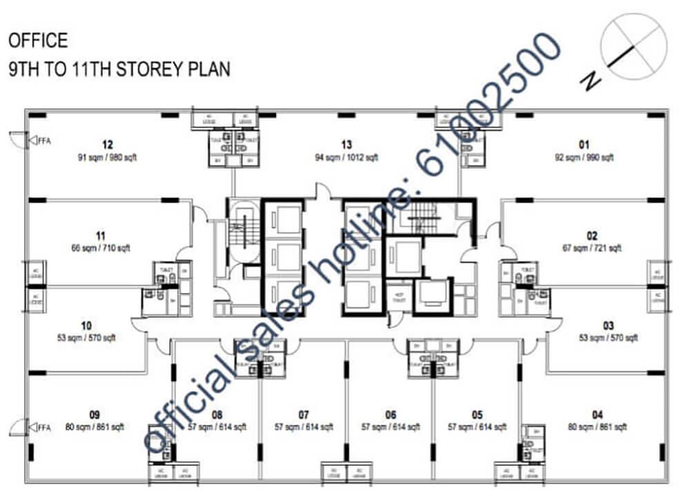Centrium Square Condo Singapore Floor Plan 9 To 11 Storey