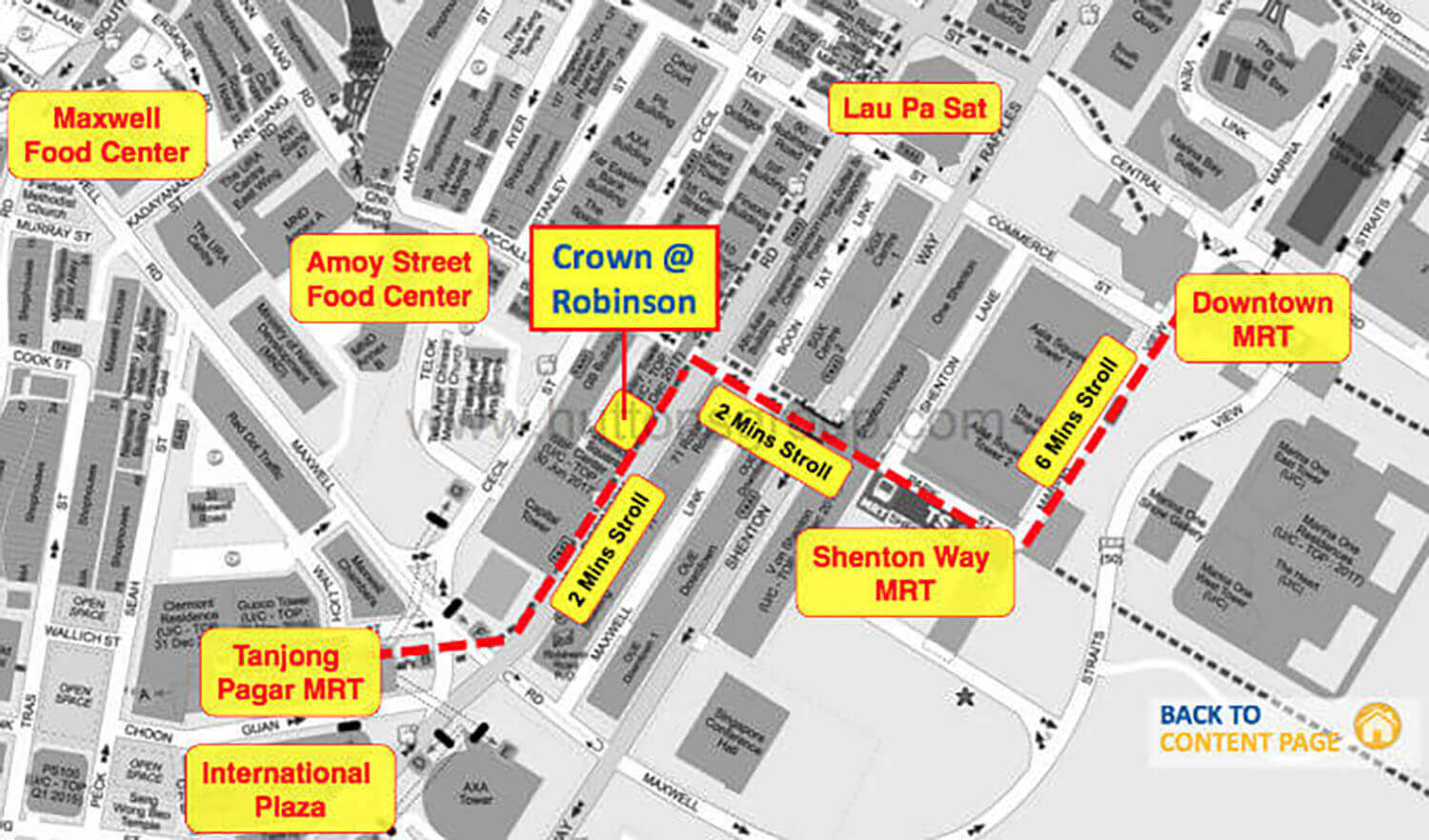 Crown @ Robinson Commercial Launch Street Map