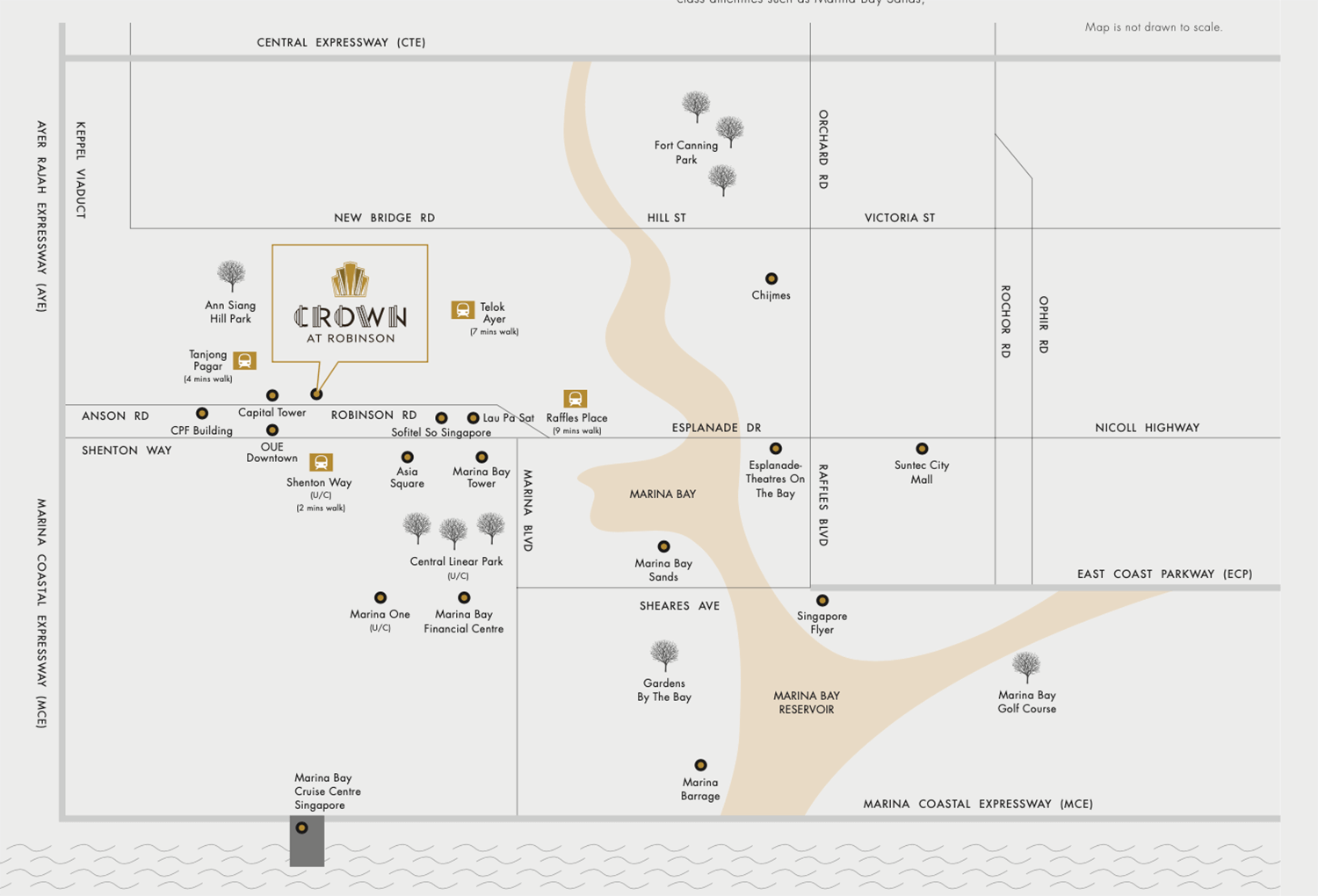 Crown @ Robinson New Commercial launch Location Map