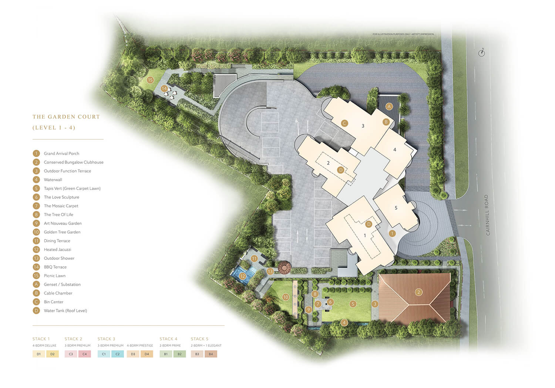 Klimt Cairnhill Luxury New Condo Launch Site Plan Level 1 to 4