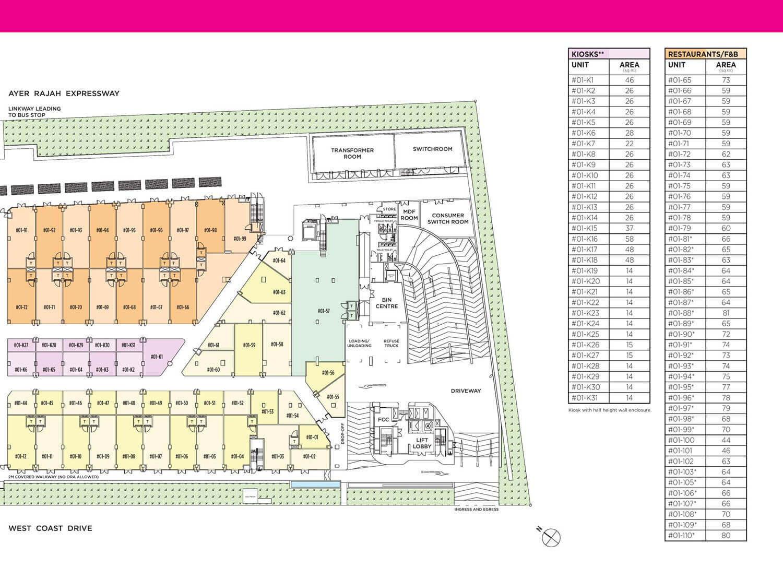 NeWest @ West Coast Commercial Launch Site Map East Podium