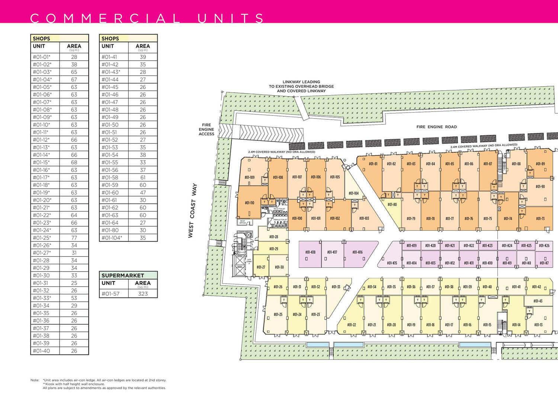 NeWest @ West Coast Commercial Launch Site Map West Podium