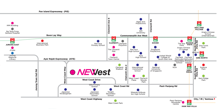NeWest @ West Coast Singapore Location Map