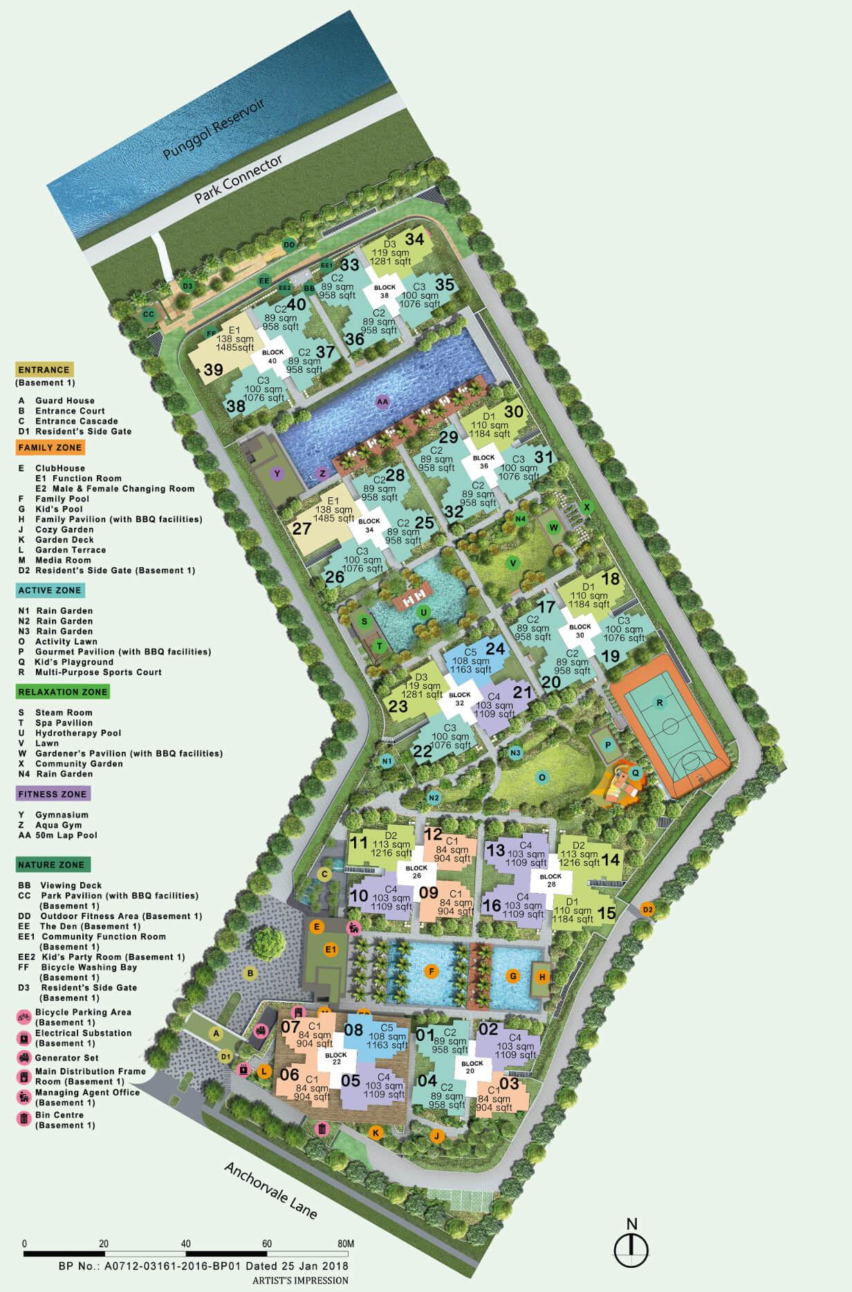 Rivercove Residences Executive Condo New Launch Site Plan