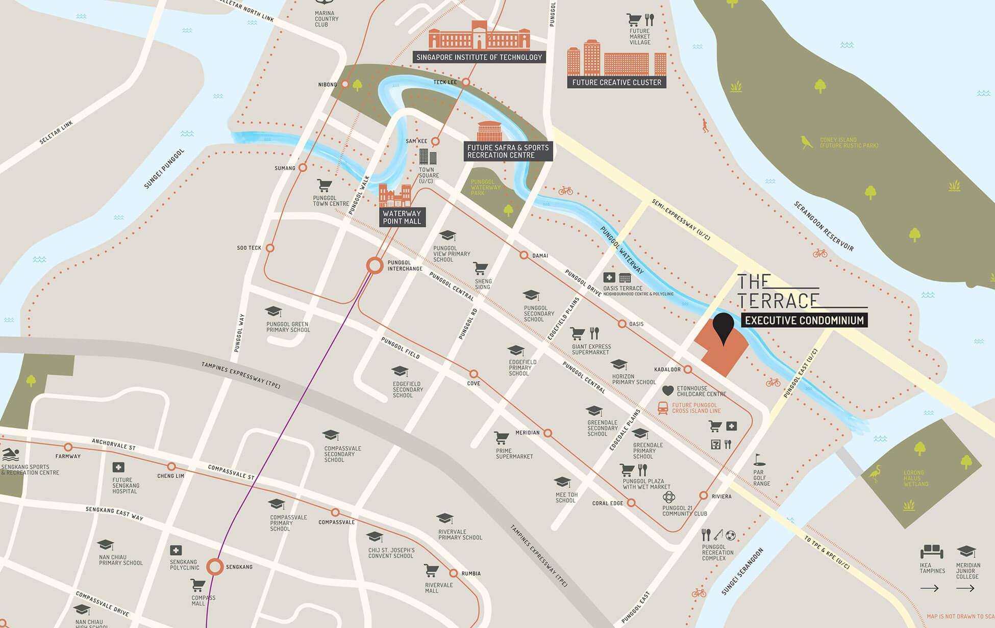 The Terrace Exec Condo Singapore Location Map